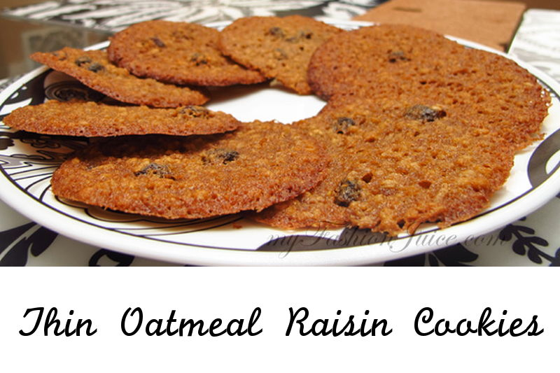 Thin Oatmeal Cookies recipe, baking, cookie, sweets, dessert