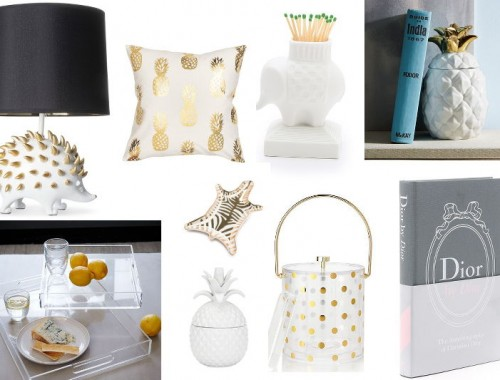 Holiday Gift Guide, lamps, pineapples, pillows