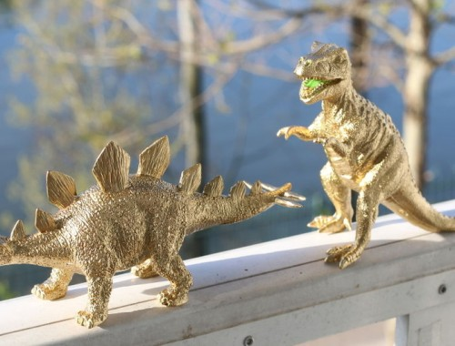 DIY Gold Dinosaur Jewelry Holder