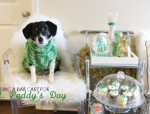 St Paddys Day bar cart style, Louis Beagle