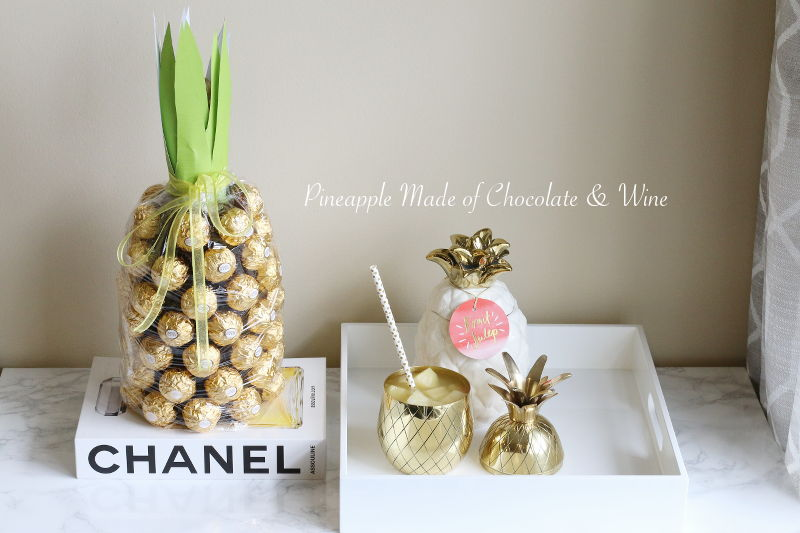 DIY Pineapple Made of Chocolate and Wine