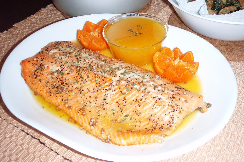 Grilled Fish, Citrus Sauce