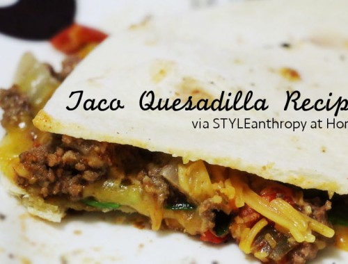 taco quesadilla recipe
