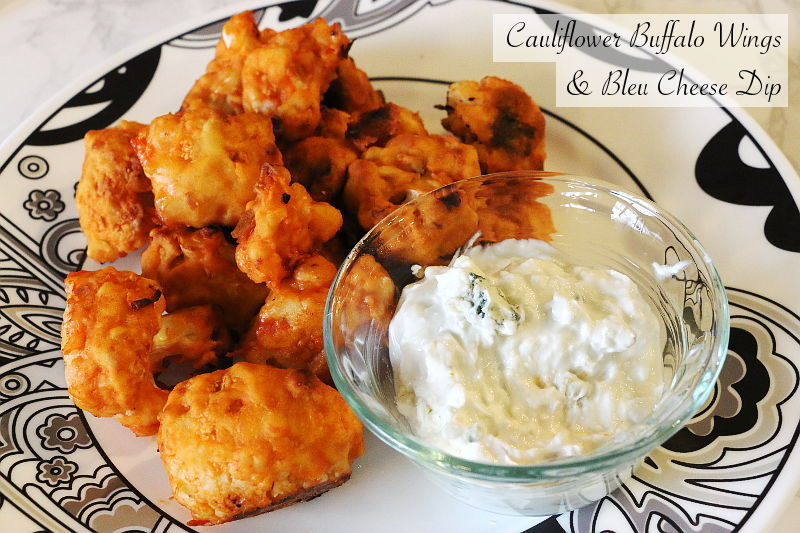 Cauliflower Buffalo Wings Bleu Cheese Dip