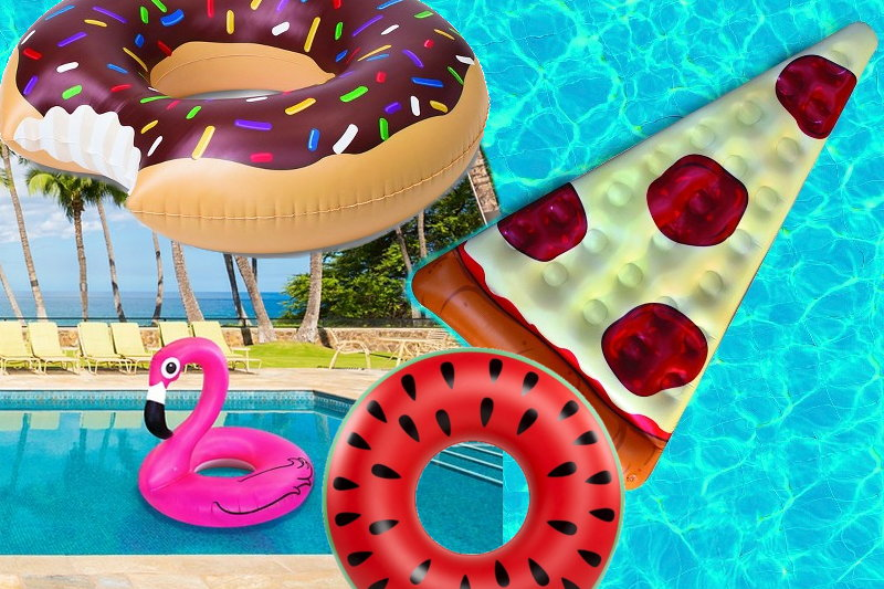 Donut Flamingo Pizza Watermelon Pool Floats
