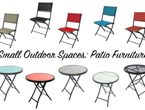 small outdoor spaces, patio furniture