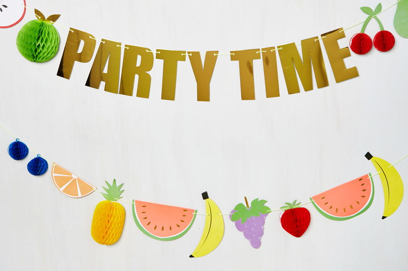 Pineapple Party Time Banner, ModCloth, home, decor