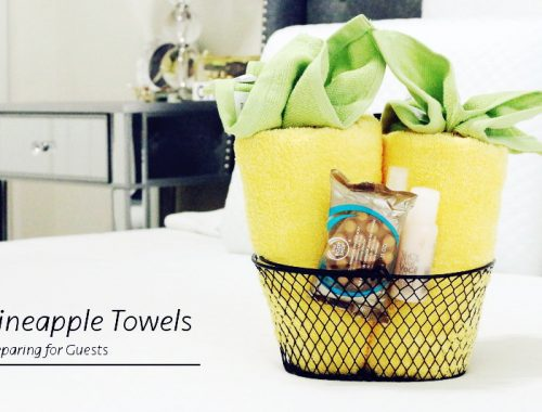 pineapple towels, welcoming guests, preparing for guests, home, bath, bed