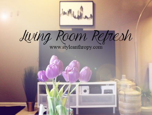 living room refresh, update, makeover, minted art work, tulips, new york skyline